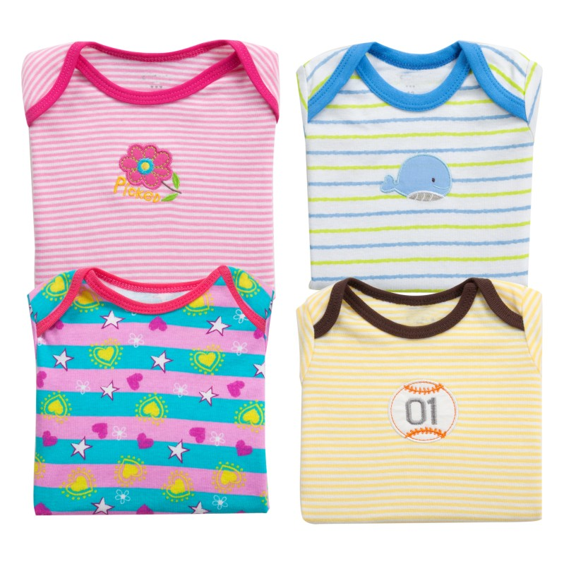 5-pcspack-new-2017-Girls-Boys-short-sleeve-100Cotton-T-shirt-Baby-Kids-tops-tees-cartoon-o-neck-toddler-infant-clothes-2