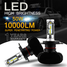 NOVSIGHT 2 шт 9005 HB3 9006 HB4 H11 H4 H7 Led H1 авто фар 50 W 10000LM 6500 K автомобильной лампы все в одном CSP лампа