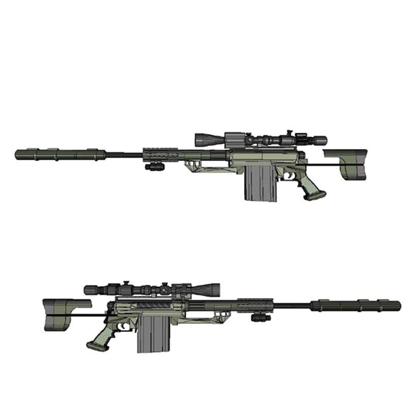 1:1 modèles de construction M200 fusil de Sniper papier modèle papier 3D ne peut pas être lancé modèle Kit jouet fusil de Sniper Jsuny