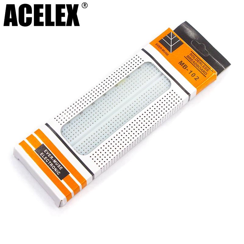 1pcs Breadboard 830 Point PCB Board MB-102 MB102 Test Develop DIY Kit Nodemcu Raspberri Pi 2 Lcd High Frequency