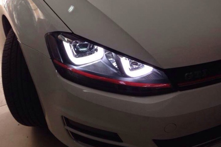 HIDLED AUTO Double U LED DRLs headlights for Golf 7 GTI