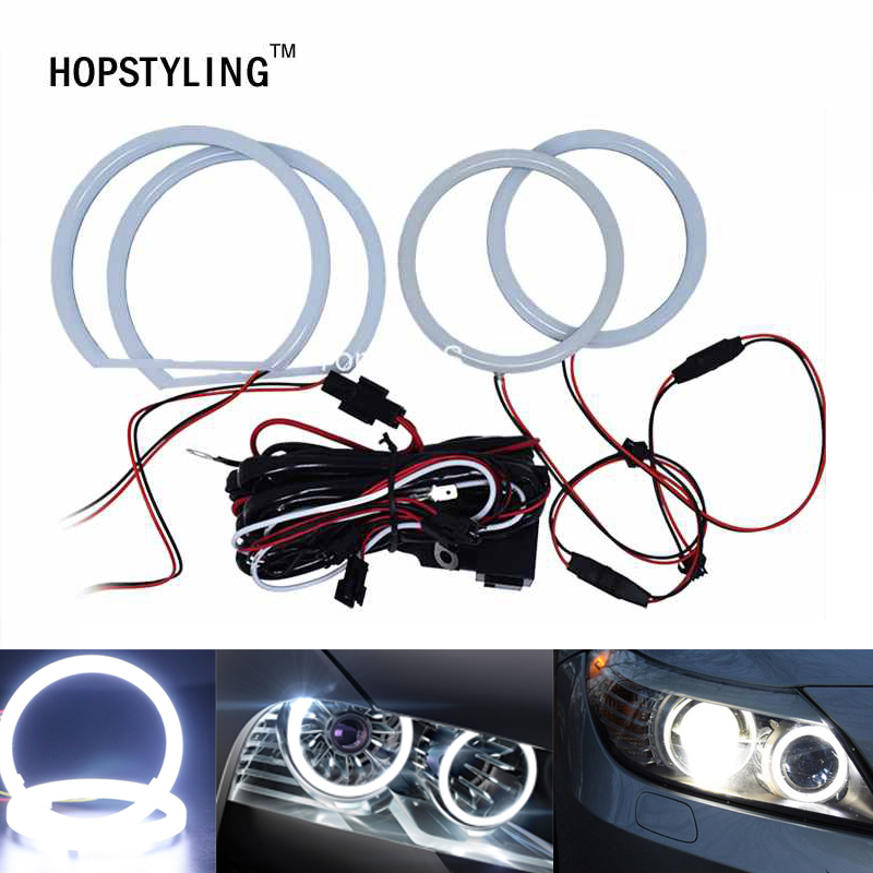 Car Styling Cotton Light Xenon Angel Eye Halo Rings Free Error For Mitsubishi Lander 08~10 Non-projector Auto Head Lamps
