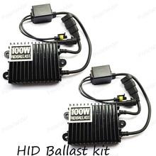Hid xenon ballast 100W slim Digital hid ballast blocks electronic ballast HID kits xenon H3 H4 HB3 9005 HB4 9006 6000K 8000K