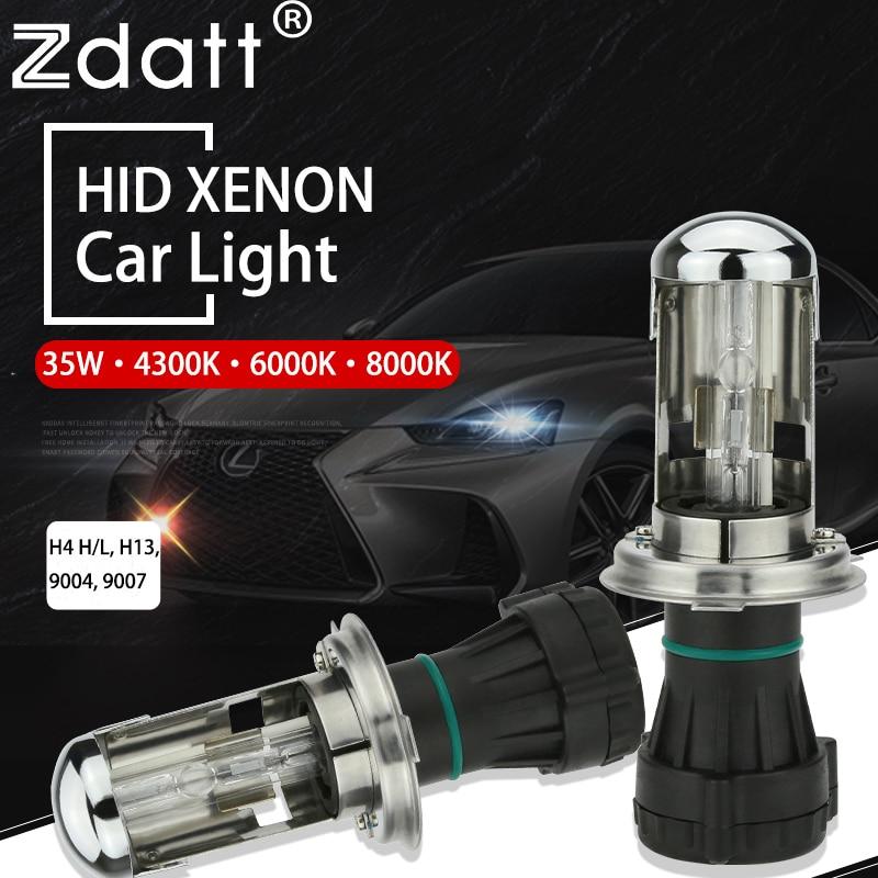 Zdatt HID Xenon Light Kit H4 H13 9004 9007 Hi Lo 12V 35W Bi Xenon 6000K 8000K Bulb Lamp Relay Harness Wiring Car Automobiles car headlight hid xenon kit slim ballast 12v 35w dc h4 3 9004 3 9007 hi lo 9012 5012 h13 bi xenon hi lo