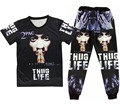 Rap godfather 2 pac tupac Print 3d t shirt+joggers men/woman Casual sweatpants hip hop suit plus size S-XXL Free shipping