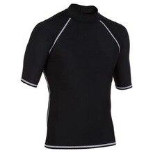 T-Shirt Swimwear Rash-Guard Surf Wetsuit Diving-Suit Short-Sleeve Men