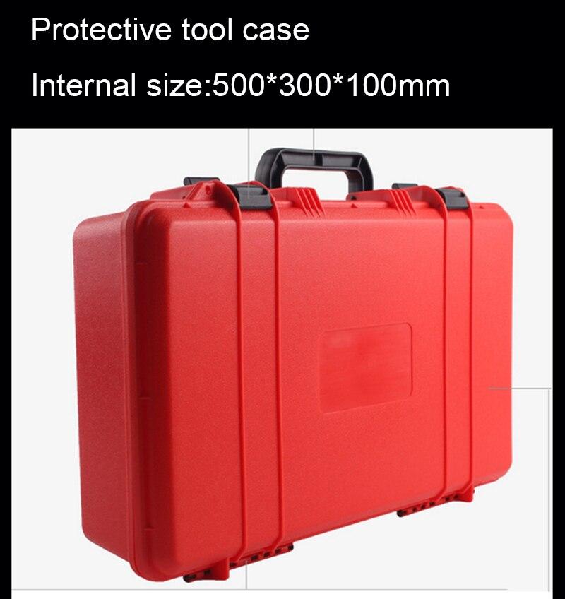 500x300x110mm Plastic Tool Case Toolbox Suitcase Impact Resistant Instrumentation Box Car Storage Box Equipment Camera Case