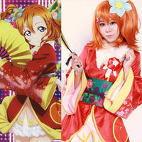 Love Live Angelic Angel Kousaka Honoka Kimono Uniform Dress Outfit Anime Cosplay Costumes