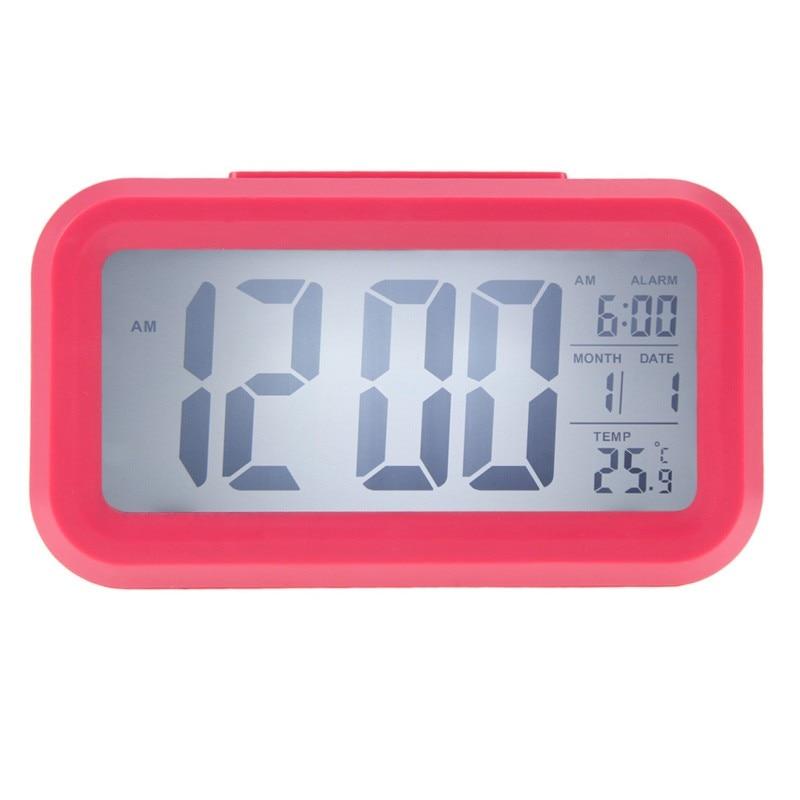 Portable Large LED Digital Alarm Clock Backlight Snooze Mute Calendar Desktop font b Electronic b font