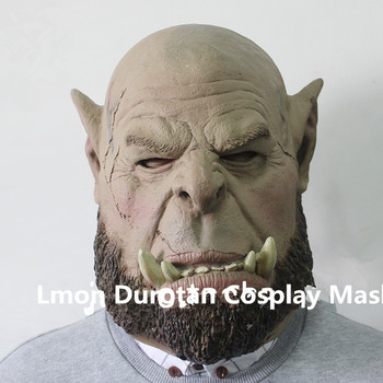 Free shipping High Quality Party Cosplay Scary Mask Durotan Mask Wearable Cosplay Face Head Mask For Pary Durotan Halloween Mask