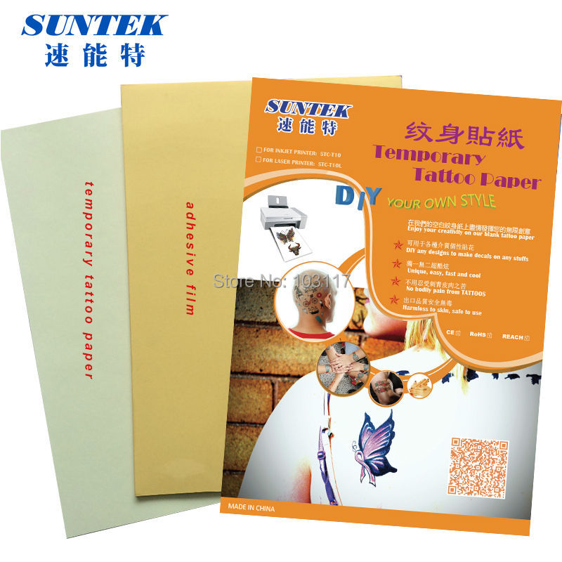 graphic relating to Printable Temporary Tattoo Paper known as US $93.6 (40mounted/large amount) Drinking water Drop Short term Tattoos Paper With Ce Specification Tattoo Sticker through Inkjet / Laser Printer-within Portray Paper towards Business office