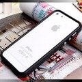 TPU Cubierta de Marco de Parachoques De Goma con el Botón Del Metal Para el iphone 5 5G 5SE 5S SÍ Sin Paquete de la Caja Al Por Menor