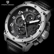 PAGANI DISEÑO Cronógrafo Relojes Deportivos Hombres Reloj de Cuarzo de Cuero Marca de Lujo Impermeable Wistwatch Militar Relogio masculino