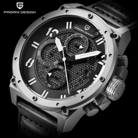 PAGANI DESIGN Chronograph Sports Watches Men Leather Quartz Watch Luxury Brand Waterproof Military Wistwatch Relogio Masculino