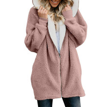 Winter Frauen Jacken Mantel Damen Warme Jumper Strickjacken Frauen Fleece Faux Fur Coat Hoodie Outwear manteau Femme Plus größe 5XL(China)