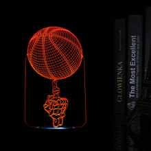 Creative 3D LED USB Night Lights Basketball Shape LED Table Lamp Art Atmosphere Decorations Lights as Holiday Gifts