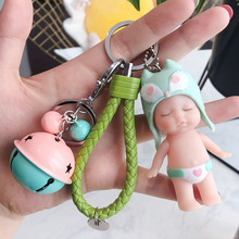 Cartoon Doll Keychain New Design Cute Sleeping Baby Key Holder Chain Bag Pendant Accessories Keyring Jewelry