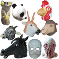 Umiwe Natural Rubber Giraffe Zodiac Cock Sika Deer Panda Octopus Owl Mask Headgear Animal Head Party Halloween Masquerade Masks