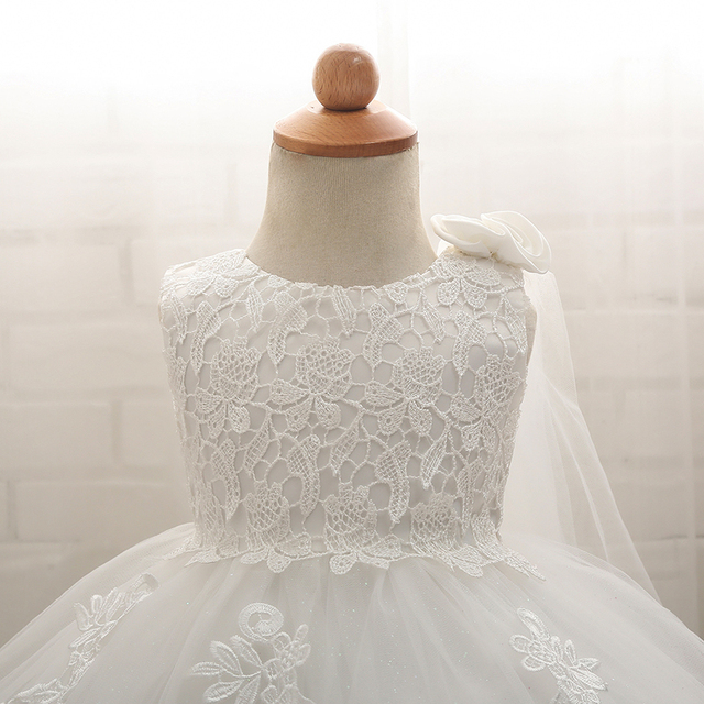 Baby Girl Dress Newborn Clothes Prom Dresses Princess 1 Year Birthday Girl Outfit 6 Months NewBorn Christening Baptism White