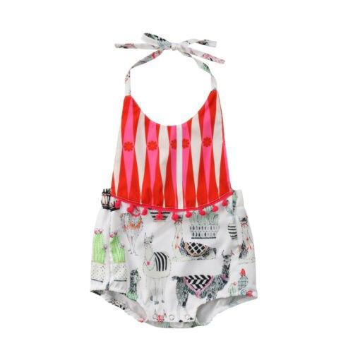 cf9ce6c83 Infant Newborn Baby Girls Alpaca Floral Romper Bodysuit Jumpsuit ...