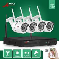 4pcs 720P HD Wireless Outdoor IR Night Vision Network Home Security Camera System