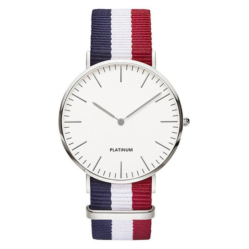 7f70020467a ... Casuais de Quartzo para Mulheres Clássico Marca Relógio Feminino  Senhoras dos Homens Nylon Strap Vestido Relógios Assistir Urso Relojes  Hombre ...