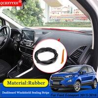 Qcbxyyxh carro-estilo de borracha anti-ruído à prova de som dustproof pára-brisa do painel do carro tiras de vedação para ford ecosport 2013-2018