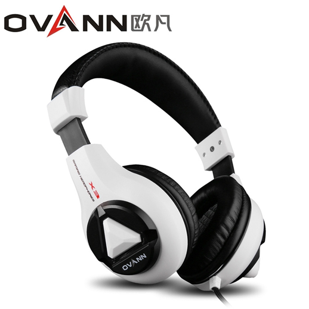 Ovann X3 Esport Gaming Stereo Bass Headset Headphone Earphone Over Ear 3.5mm Wired with Microphone for PC Computer Laptop