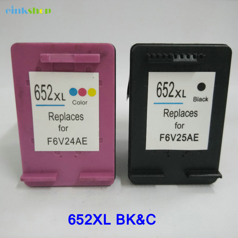Einkshop compatible cartridge 652 <font><b>Ink</b></font> Cartridge replacement For <font><b>HP</b></font> 652 652xl DeskJet 3635 <font><b>1115</b></font> 2135 3638 2138 3636 Printer <font><b>ink</b></font> image