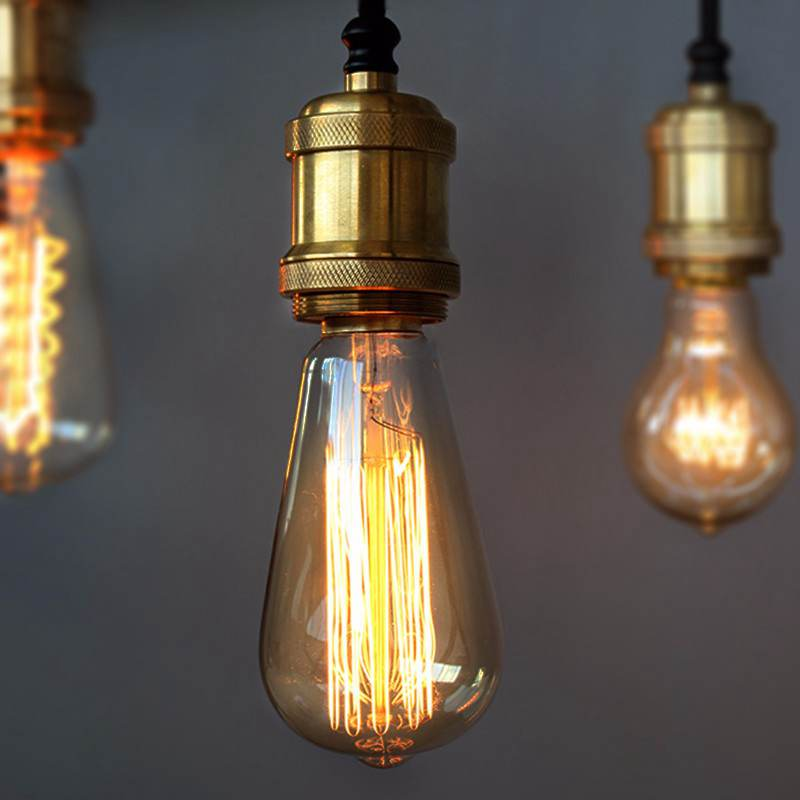 Vintage Edison Bulb E27 Incandescent Light Retro Lamp 60W Tungsten Filament Candle Light Warm White Lighting Fixture 110V/220V lumiparty classical edison bulb e27 8w filament luminaria tubular nostalgic filament incandescent antique light bulb home lamp