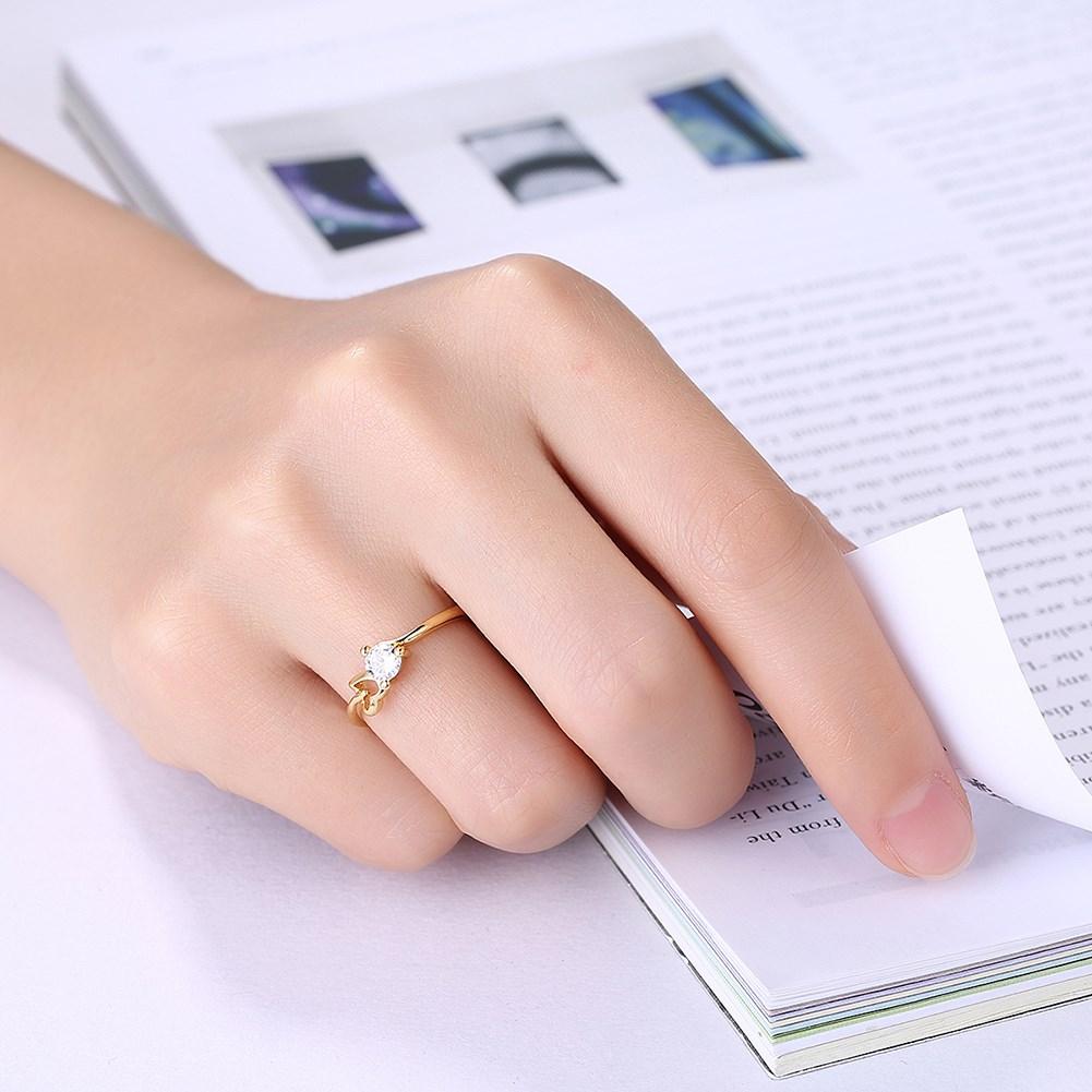 2017 Gold Color Zircon Ring, Fashion Crystal Heart Men Ring Men ...