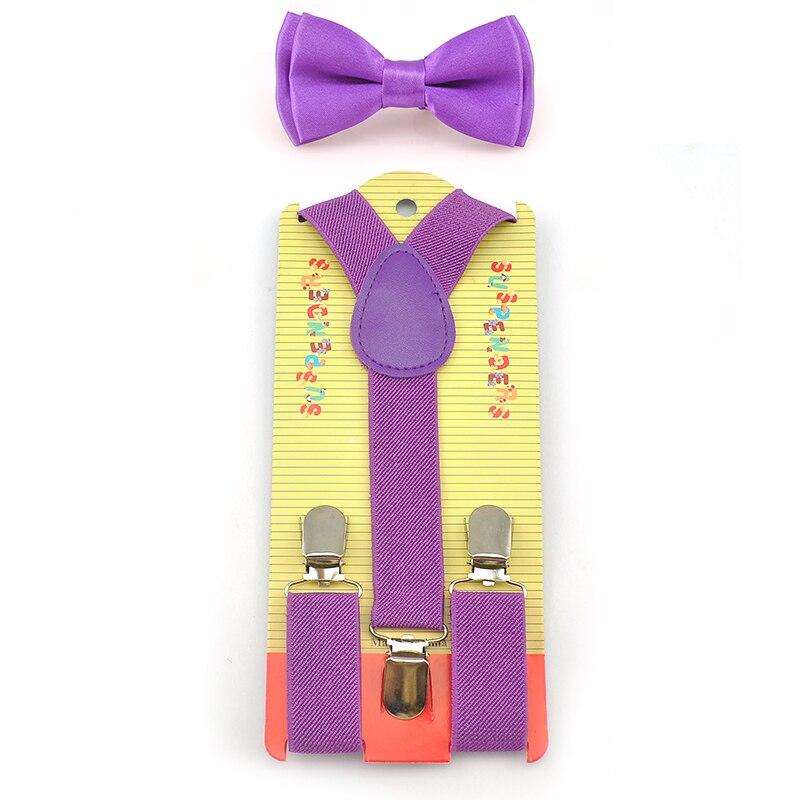 Elastic Suspenders & Bow Tie Set Y-Shape Braces&Butterfly Sets New Fashion Kids Children Boys Girls