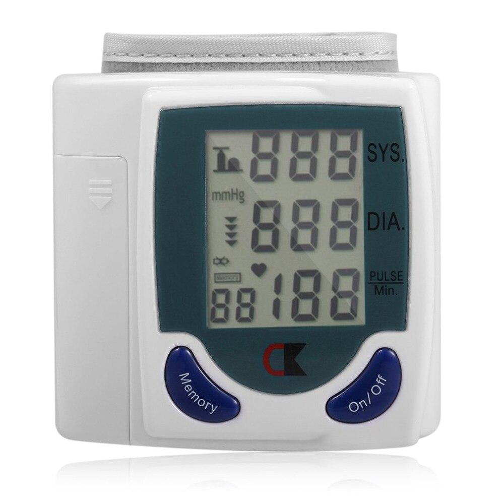 2018 casa muñeca Digital presión arterial Monitor Portable del tonómetro para la presión arterial Oximetro De Dedo