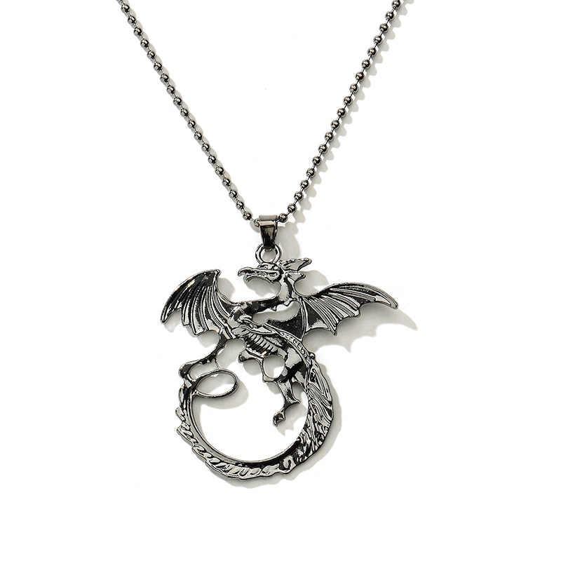 New Game Dragon The Elder Scrolls V Pendant Necklace Skyrim Choker Men Jewelry Necklace Chain