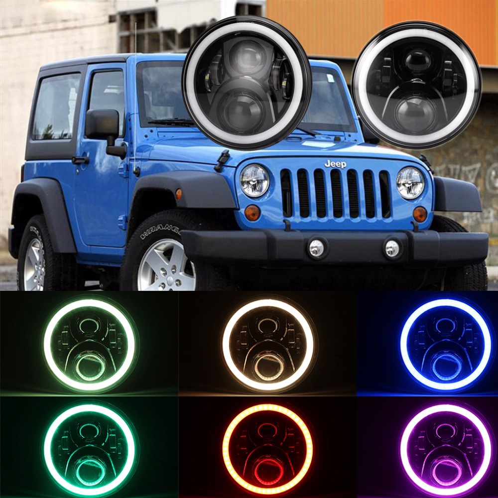 Suparee 2017 New Vision and Fast Delivery 7 High/Low Beam Headlight RGB Angel Eyes Headlight Assembly for Jeep Wrangler Led manjari singh introducing and reviewing preterm delivery and low birth weight
