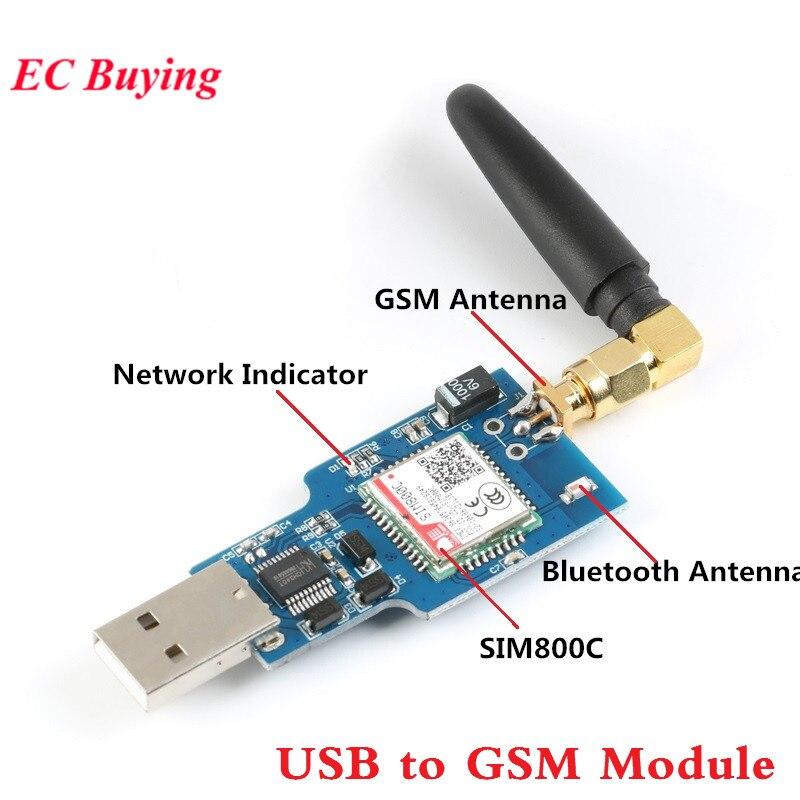 Module GSM GPRS SIM800C quadri-bande avec Module SMS Bluetooth avec antenneModule GSM GPRS SIM800C quadri-bande avec Module SMS Bluetooth avec antenne