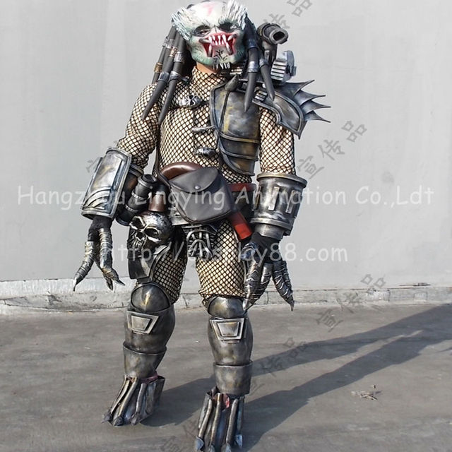 Halloween Costume for Men Alien VS Predator Costume Full Set of Armor Prop Carnival Christmas Costume & Halloween Costume for Men Alien VS Predator Costume Full Set of ...