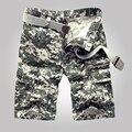 Euro Tamanho shorts Da Carga Dos Homens 2017 Novos Homens de Sarja Militar Carga Calças Curtas Areia Do Deserto Camuflagem Calções calções Casuais Masculinos homens
