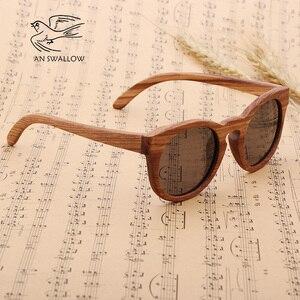 Image 5 - Damskie bambusowe okulary przeciwsłoneczne spolaryzowane drewniane oprawki okularów Zebra Handmade Vintage drewniana ramka męskie okulary przeciwsłoneczne do jazdy fajne polaryzacja