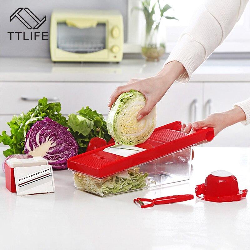TTLIFE Multifunktions-Gemüseschneider Mandoline Slicer Box mit 6 - Küche, Essen und Bar - Foto 3