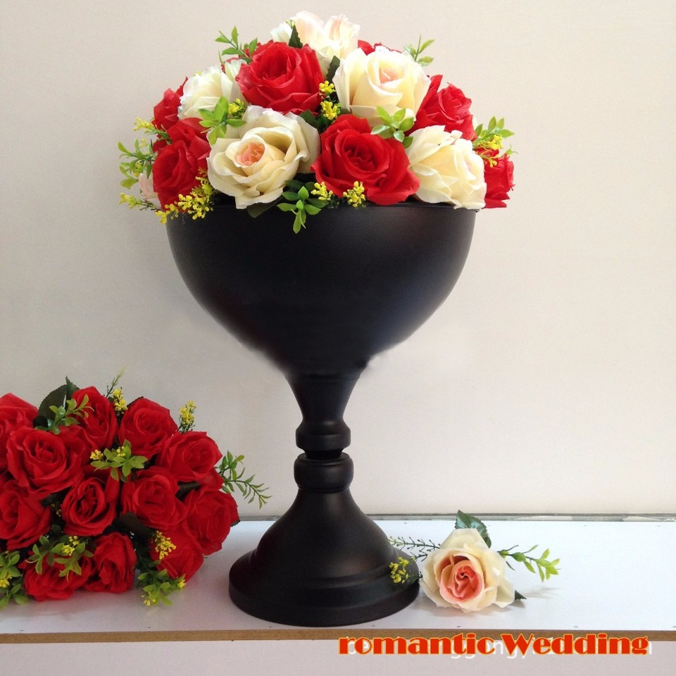 30cm 12 Tall Black Metal Party Flower Vase Wedding Table Centerpiece Decoration Party Supplies 10pcs Lot Vase Filler Centerpiece Partyvase Hat Aliexpress
