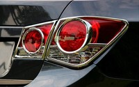 4 pcs Chrome Rear Tail Light Lamp Cover Trim 4pcs For Chevrolet Cruze Sedan 2009 2014 Decorative accessories