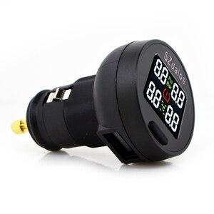 Image 2 - SZDALOS TP200 TPMS  Car Wireless Tire Pressure Monitoring System + 4 Mini Sensors  Cigarette Tyre Pressure Monitoring