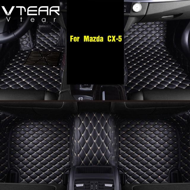Vtear для Mazda CX5, 2017-2018 2019 кожаные Коврики Ковры Интерьер коврик водонепроницаемые ковры аксессуары продукты автомобиль-Стайлинг