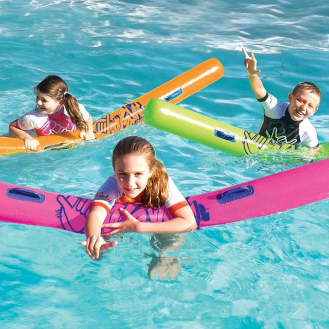 New Design Kids Pool Floats 71 inch Long Swim Trainer Inflatable Pool Toys For Kids Study Swimming Children Funny Water Toys