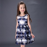 Fancy Korean Kids Baby Girl Clothes Summer 2017 Party And Holiday For Children Dresses Beautiful Teenage