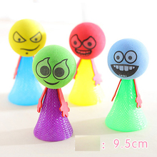 iWish 95mm H Hip Hop Jumping Doll Kids Bounce Ball Springs Toys Educational Game Expressions Push N Down Jump Man for Children iwish halloween wind up green ghost goblin zombies jump vampire winding walking frankenstein jumping kids toys all saints day