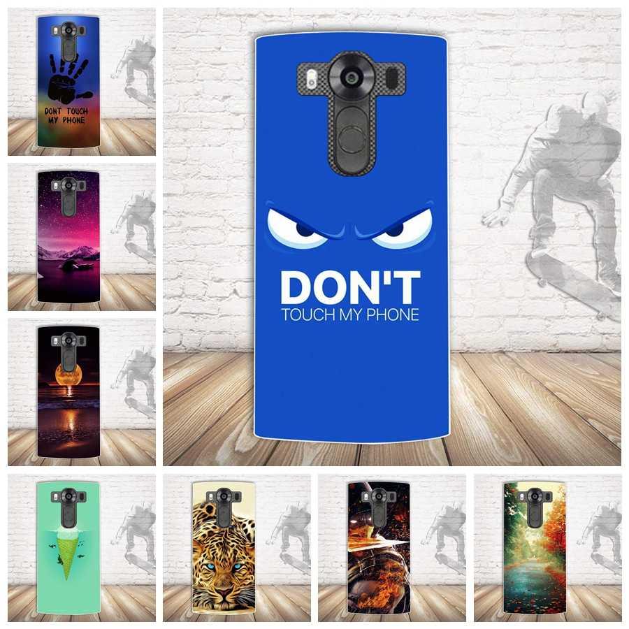 Yeni! Lüks Boyalı Cilt Arka LG kılıfı V10 için Cep Telefonu Silikon Kılıf Kapak LG V10 V 10 Yumuşak TPU Arka Kapak kabuk