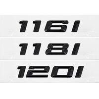 Para bmw série 1 118 116i 118i 120i emblema x1 f10 e70 gt auto etiqueta da cauda de plástico número carta emblema decalque do carro estilo
