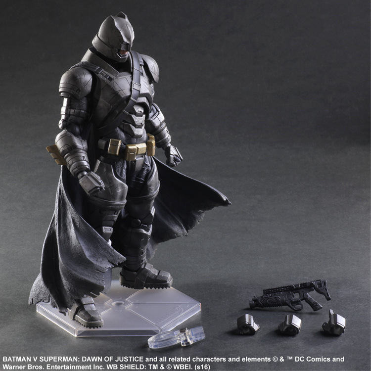 SAINTGI Batman v Superman Dawn of Justice Armored Batman DC Super Heroes PVC 25CM Action Figure Collection Toy play arts kai play arts kai batman v superman dawn of justice no 3 armored batman pvc action figure collectible model toy 25cm